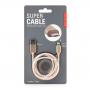 Super kabel 2 v 1 - rose gold